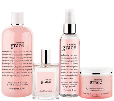 philosophy 4-piece grace body care collection