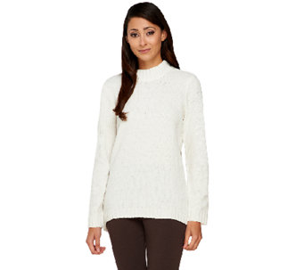 Denim & Co. Chenille Mock Neck Sweater - A259790