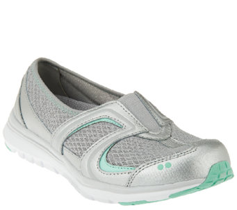Ryka Leather and Fabric Slip-on Sneakers - Arbour II - A263490