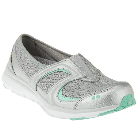 Ryka Leather and Fabric Slip-on Sneakers - Arbour II