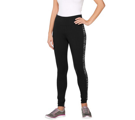 Denim & Co. Active Duo-Stretch Leggings with Print Insert