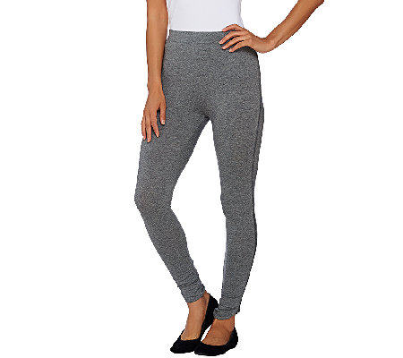 Whitney Port Pull-On Knit Leggings with Side Seam Detail