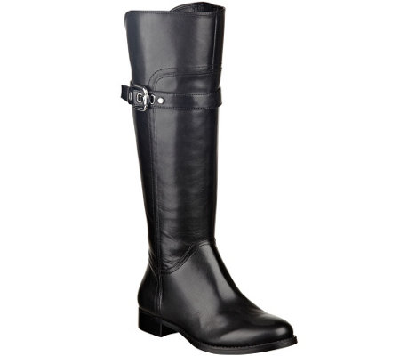 """As Is"" Marc Fisher Leather Wide Calf Riding Boots - Taite"