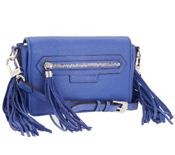 """As Is"" Aimee Kestenberg Krista Leather and Suede Crossbody - A270690"
