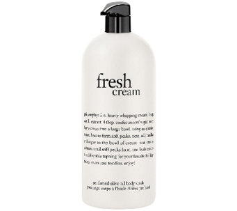 philosophy super-size 32oz fresh cream olive oil scrub - A271990