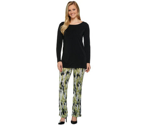 Attitudes by Renee Petite Radiant Knit Tunic and Pants Set