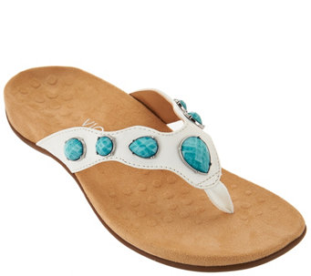 Vionic Orthotic Embellished Thong Sandals - Eve 2 - A275290