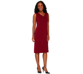 """As Is"" Susan Graver Passport Knit Sleeveless Sheath Dress - A276190"