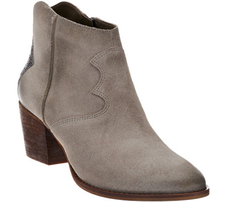 """As Is"" Marc Fisher Suede Ankle Boots - Stefani"