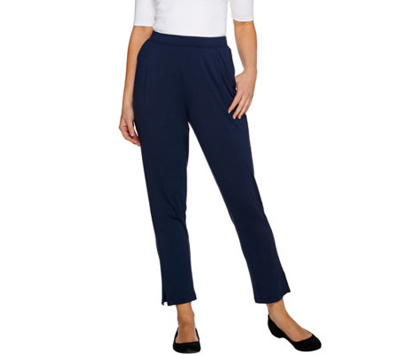 H by Halston Ankle Length Pull-On Tapered Knit Pants