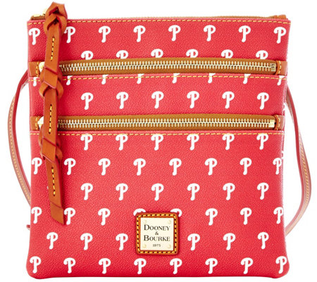 Dooney & Bourke MLB Phillies Triple Zip Crossbody