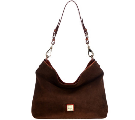 Dooney & Bourke Suede Shoulder Bag- Courtney - Page 1 — QVC.com