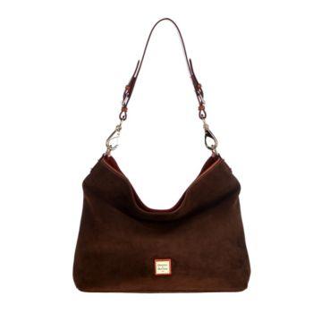 Dooney & Bourke Suede Shoulder Bag- Courtney