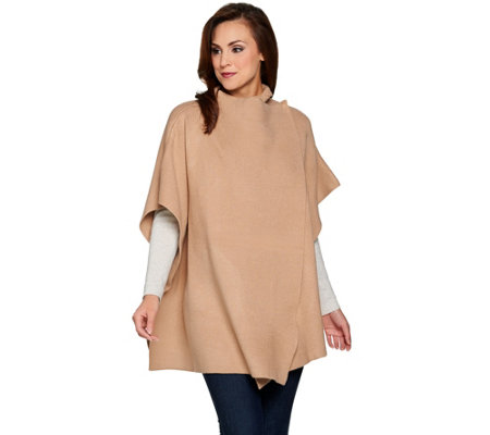 Attitudes by Renee Convertible Sweater Knit Poncho