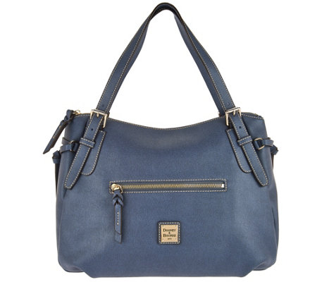 Dooney & Bourke Saffiano Large Nina Shoulder Bag - Page 1 — QVC.com