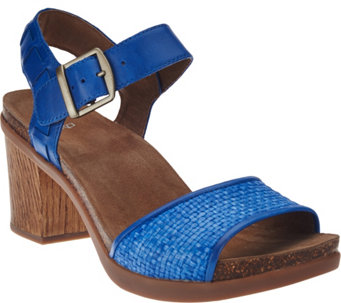 """As Is"" Dansko Leather Sandals with Adjustable Ankle Strap - Debby - A286490"