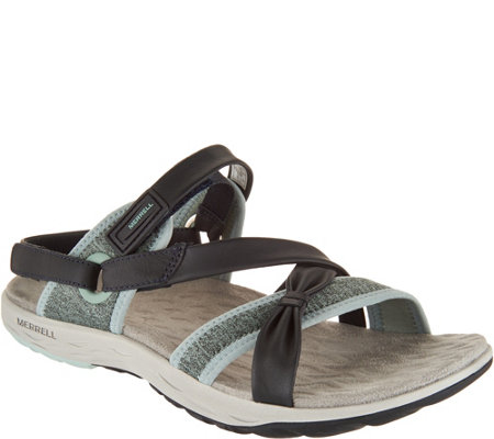 Merrell Leather Sport Sandals - Vesper Lattice