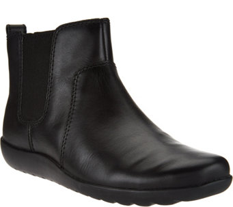 """As Is"" Clarks Collection Nubuck Leather Chelsea Boots - Medora Grace - A288990"
