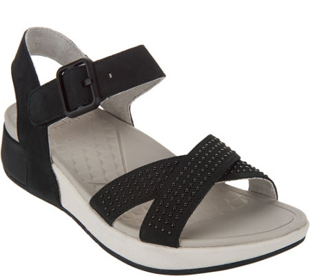 Dansko Nubuck or Suede Sandals with Ankle Strap - Cindy