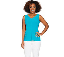 Susan Graver Modern Essentials Textured Liquid Knit Tank - A289390