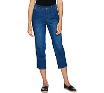 Isaac Mizrahi Live! TRUE DENIM 5-Pocket Crop Jeans - A292090