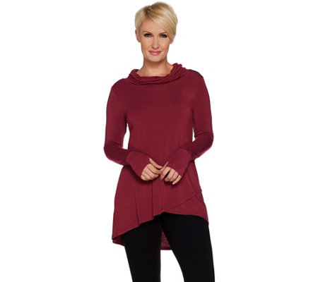 Cuddl Duds Softwear Stretch Criss Cross Tunic