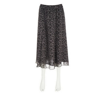 """As Is"" Isaac Mizrahi Live! Leopard Print Fully Lined Skirt - A293290"