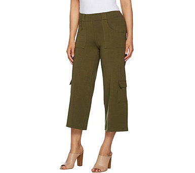 Women With Control Cargo Coulotte Pants - A300690