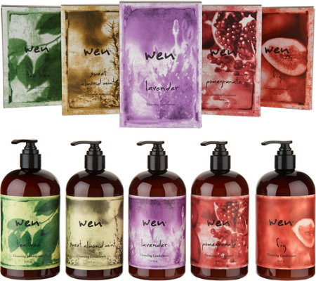 WEN by Chaz Dean Set of 5 Cleansing Conditioners Auto-Delivery