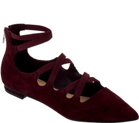 """As Is"" Marc Fisher Suede Cut-Out Flats- Annabeth"