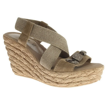 Azura by Spring Step Leather Platform Sandals -Cambodia
