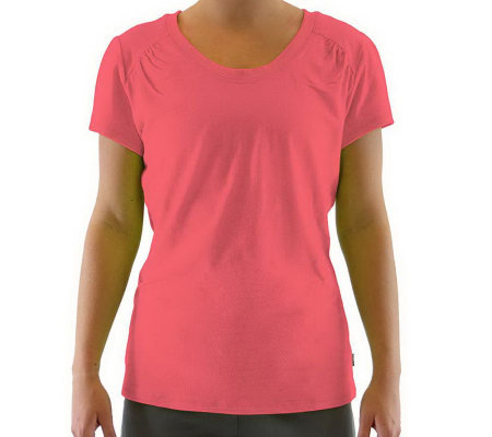 Ryka Scoopneck Cap-Sleeve Moisture Wicking T-Shirt