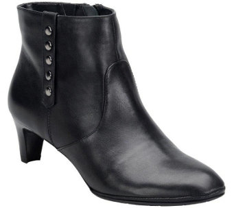 Comfortiva by Softspots Leather Heeled Ankle Boot - Tacoma - A355390