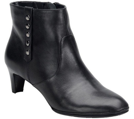 Comfortiva by Softspots Leather Heeled Ankle Boot - Tacoma