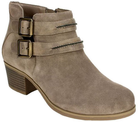 White Mountain Suede Leather Booties - Utterly