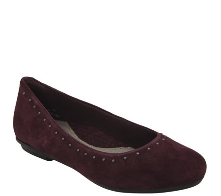 Earth Leather Slip-On Flats - Anthem