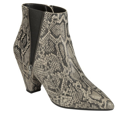 Aerosoles Heel Rest Pointed Toe Ankle Boots - Rock On