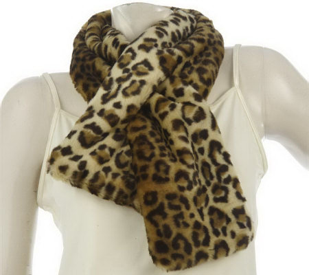 Dennis Basso Faux Fur Pull-through Scarf