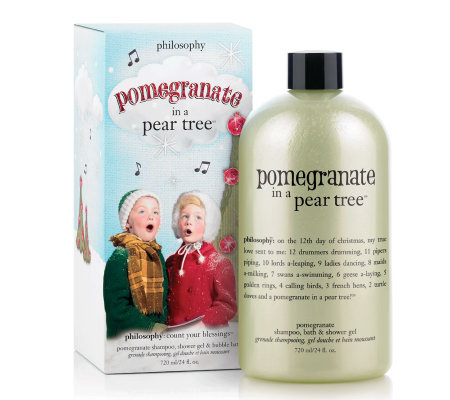 philosophy pomegranate in a pear tree 3-in-1 gel 24oz w/ gift box