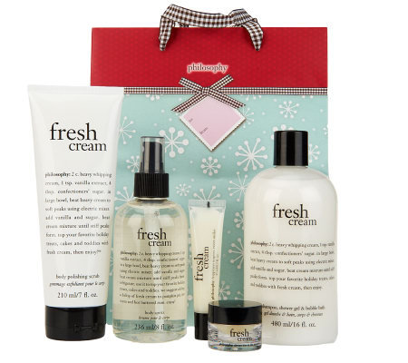 philosophy fresh cream 6 piece collection with gift bag