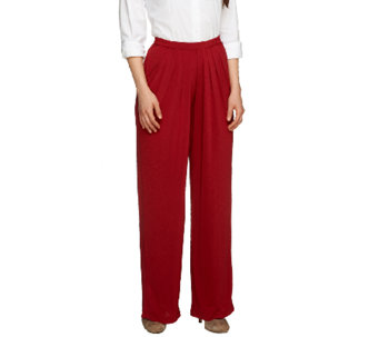 Linea by Louis Dell'Olio Wide Leg Pull-on Pants w/Pleat Detail - A233191