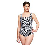 Silver by Gottex Tribal Dance 1-Piece Swimsuit - A234091