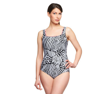 Silver by Gottex Tribal Dance 1-Piece Swimsuit