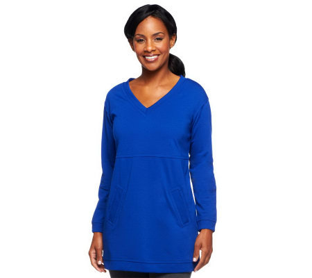 Linea by Louis Dell'Olio V-Neck Ponte Knit Tunic