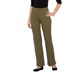 Women with Control Regular Tummy Control Boot Cut Pants - A237491