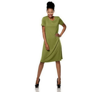 """As Is"" Susan Graver Ponte Knit Swing Dress - A240691"