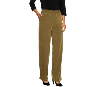 Linea by Louis Dell'Olio Petite Pants w/ Elastic Waist - A251591