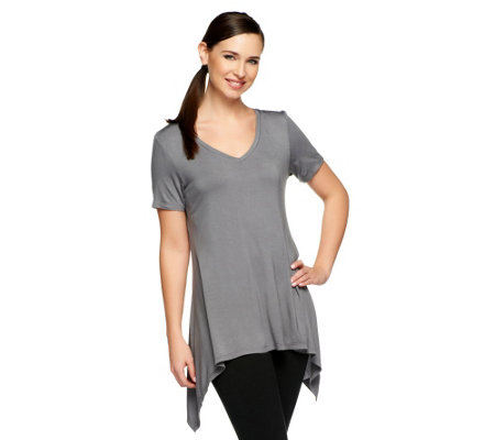 LOGO Layers by Lori Goldstein Petite V-Neck Tee