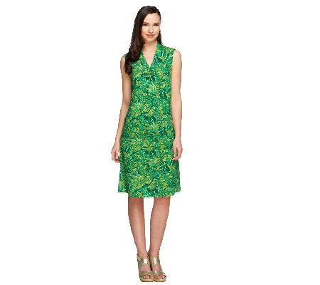 Liz Claiborne New York Petite Floral Print Knit Dress