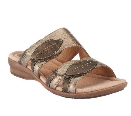 Clarks Artisan Leather Slide Sandals w/ Adj. Straps - Reid Point